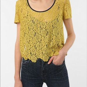 Lucca Couture x Urban Outfitters crop lace top L